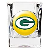 Green Bay Packers 2 ounce Square Shot Glass