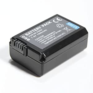 NP-FW50, FW50, NPFW50, Replacement Lithium-Ion Battery for Sony Alpha cameras Series Battery Pack, 7.4v 1500mAh