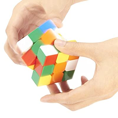 DLAND 3x3 3x3x3 Speed Cube Anti-POP Structure 6 Solid Color Eco-friendly Plastics Stickerless Cube