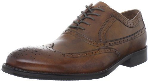 Johnston & Murphy Men's Tyndall Wing Tip Oxford,Tan Italian Calfskin,8.5 M US