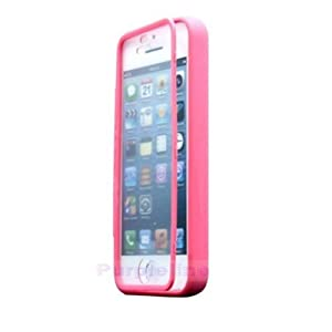 iSee Case Pink Gel Slim TPU Protective Cover Case Built in Screen Protector for Apple iPhone 5C