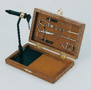 fly tying kit in wooden box co uk sports outdoors