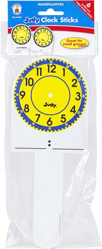 Carson Dellosa Judy Instructo Judy Clock Sticks Manipulative (146009)