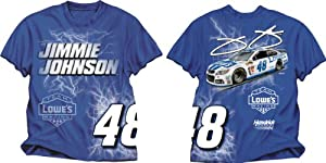 NASCAR Jimmie Johnson #48 LOWES ELECTRIC T-Shirt by Checkered Flag