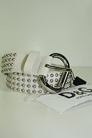 Dolce & Gabbana Belts White Leather DC0707 (CLEARANCE)
