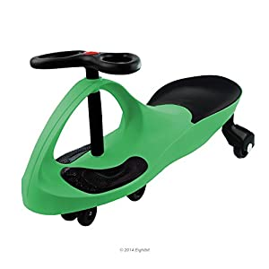 Swivel Car Rolling Ride On Toy - Indoor / Outdoor, GREEN from Eightbit