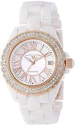 Swiss Legend Women's 20051-WWWRR Karamica White High Tech Ceramic Diamond Watch