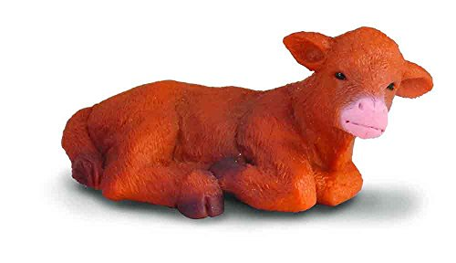 CollectA Lying Down Highland Calf
