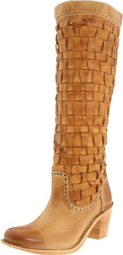 Frye Women's Carmen Woven Brown Knee High Boots 76225 8 UK