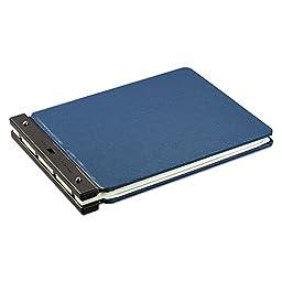 Wilson Jones® Raven Vinyl-Guarded Post Binder, 11 x 17, 8-1/4 Center, Light Blue
