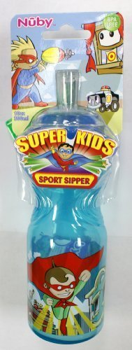 NUBY BPA FREE 10 oz Sport Sipper - Super Kids - 1