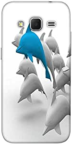 Snoogg 3d dolphins Hard Back Case Cover Shield For Samsung Galaxy Grand Prime