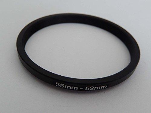 vhbw Step UP Filter-Adapter 55mm-52mm schwarz für Kamera Panasonic, Pentax, Ricoh, Samsung, Sigma, Sony, Tamron