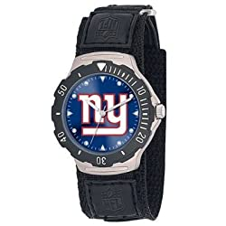NFL Men's FDV-NYG Agent Series New York Giants Velcro Watch