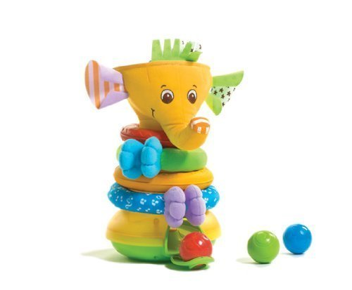 Tiny Love Musical Stack And Ball Game, Yellow Elephant back-1016674