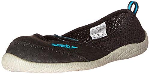 Speedo Women's Beachrunner 3.0 Water Shoe, Black/Grey, 9 M US