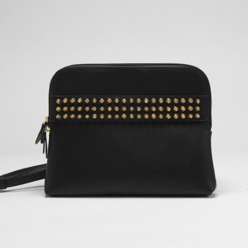 Via by Vieta Rhinestone Studded Messenger Style Crossbody Purse Handbag, Colors Available