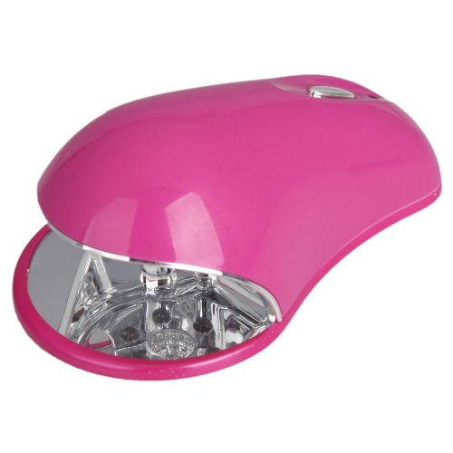 Olymstore(Tm) Mini Protable Mouse Shaped 100-240V 3 Watt 3W Nail Art Gel Polish Cure Curing Uv Led Lamp Light Dryer Manicure With Adapter