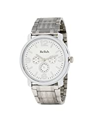Relish Casual Tide Analogue White Men's Watch (RELISH-662)