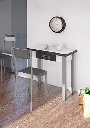 Mesa-de-cocina-con-cajon-extensible-libro-blanca-80x80-cm