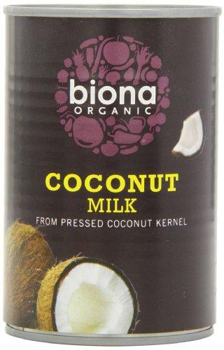 Biona Organic Coconut Milk 400 ml (Pack of 6)