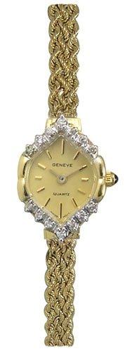 Geneve 14K Gold Diamond Womens Watch OW186
