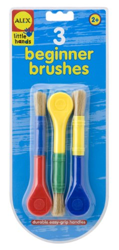 ALEX Toys Little Hands 3 Beginner Paint Brushes - 1
