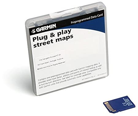 Garmin City Navigator NT SD Data Card for Garmin GPS Units, Spain and Portugal (010-10698-00)