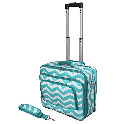 Blue ChevronWomen's Rolling Laptop Bag