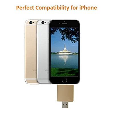 COOLNUT® i-Flash Dual Port 64 GB HD & USB Flash Drive with Lightning Connector for Apple iPhone 5,5s,5c,6,6 Plus...