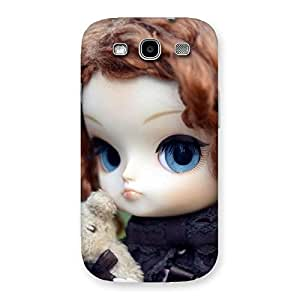 Stylish Hugging Teddy Doll Multicolor Back Case Cover for Galaxy S3