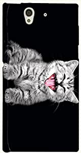 Prominent multicolor printed protective REBEL mobile back cover for Sony Xperia Z L36h D.No.N-T-2785-S36
