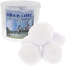 Indoor Snowball Fight - Mondo Huge Snowballs - Set of 6 Double Sized Snow Balls