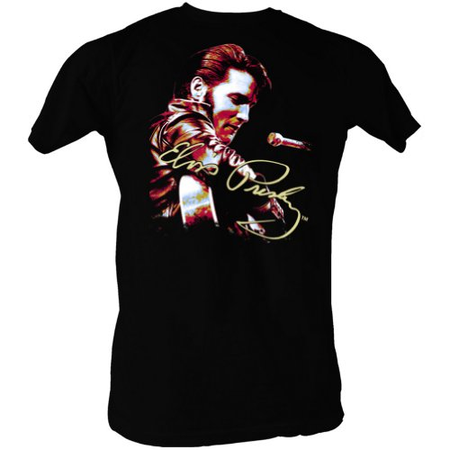 Elvis Presley Signature Solo Adult T-Shirt Tee