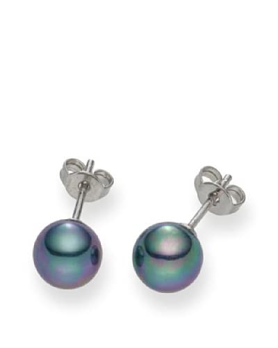 Pearls of London Pendientes  Gris Oscuro