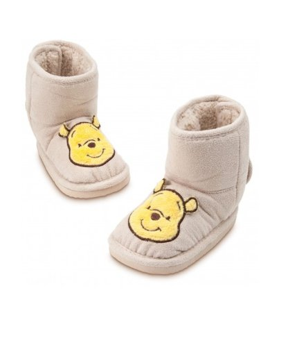 Disney Winnie the Pooh Faux Fur Winter Boots Slippers Infant Size 12-18 Months