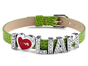 I Love Liam I Love Id One Direction Member Peridiot Bracelet Link Cuff Bangle Fashion Jewelry from Yiwu City Yinuo E-Commercial Business Co.,Ltd