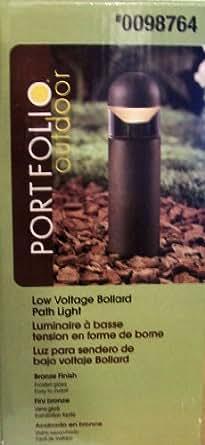 Portfolio Outdoor Metal Constructed - Low Voltage - Bollard Path Light (20 Watt Halogen Bulb - Bronze Finish)