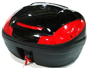 NEW Motorcycle Scooter Accessories Universal XLarge Black Top Case Trunk Luggage by Generic