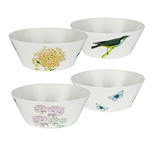 LAGUTE Medium Size Melamine Salad Mixing Bowl Set, Dishwarer-Safe Bowls of 4 Set with BPA Free Material and Kids Friendly (True Flavor Ware compare prices)