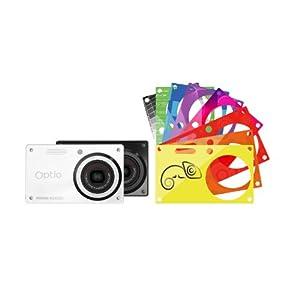 Pentax Optio RS1000 Digitalkamera (14 Megapixel, 4-fach opt. Zoom, 3 Zoll Display, bildstabilisiert) inkl. Wechselcover schwarz