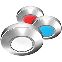Brand New I2systems Inc I2systems Profile P1120 Tri Light Surface Light - Red, White, Blue Light, Chrome Finish