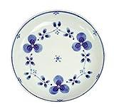 みのる陶器 藍つづり うすかる7寸皿