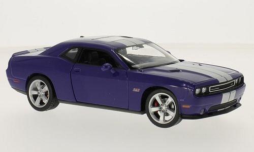 dodge-challenger-srt-lilla-argento-2012-modello-di-automobile-modello-prefabbricato-welly-124-modell