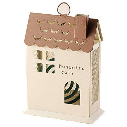 ドゥームー 家の形が かわいい 蚊遣り 虫除けホルダー 縦型  ハウス ブラウン 400638502
