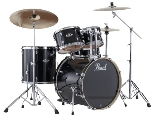 pearl-exx725s-c-5-piece-export-new-fusion-drum-set-with-hardware-jet-black