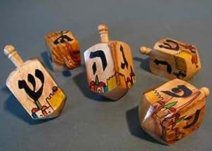 Rimmon toupie de hanouka en bois d 39 olivier d 39 isra l for Decoration maison hanouka
