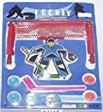 Table Top Toy Hockey Set With Goal And Stick