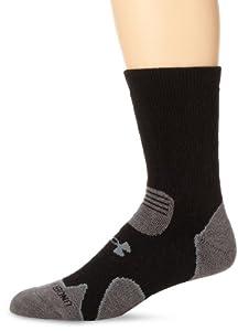 Under Armour Hitch Heavy Cushion Boot Socks (1-Pack), Black/Graphite, Medium