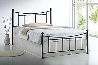 4ft6 Double Bristol Black Metal Bed Frame